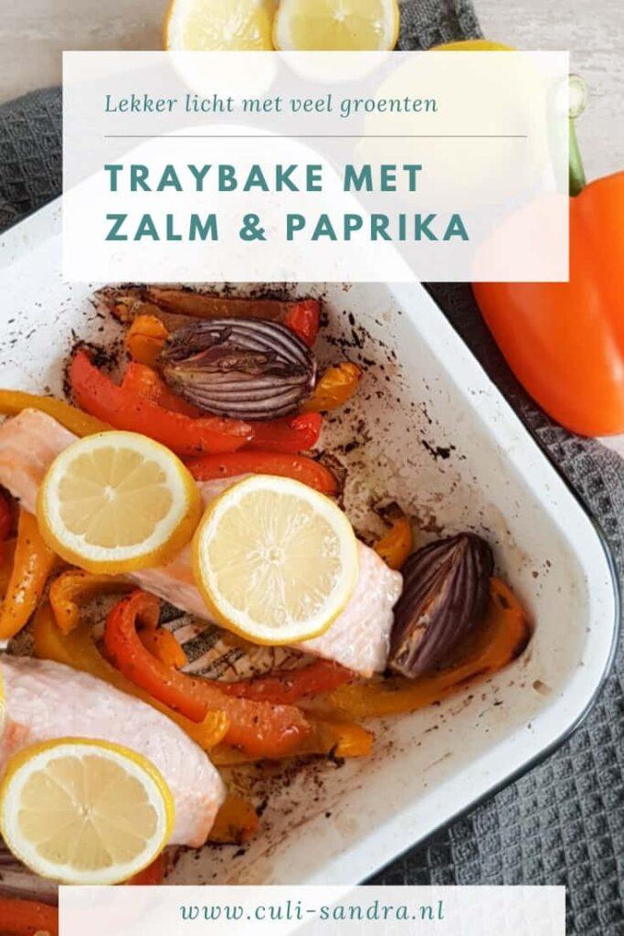 Recept zalm traybake