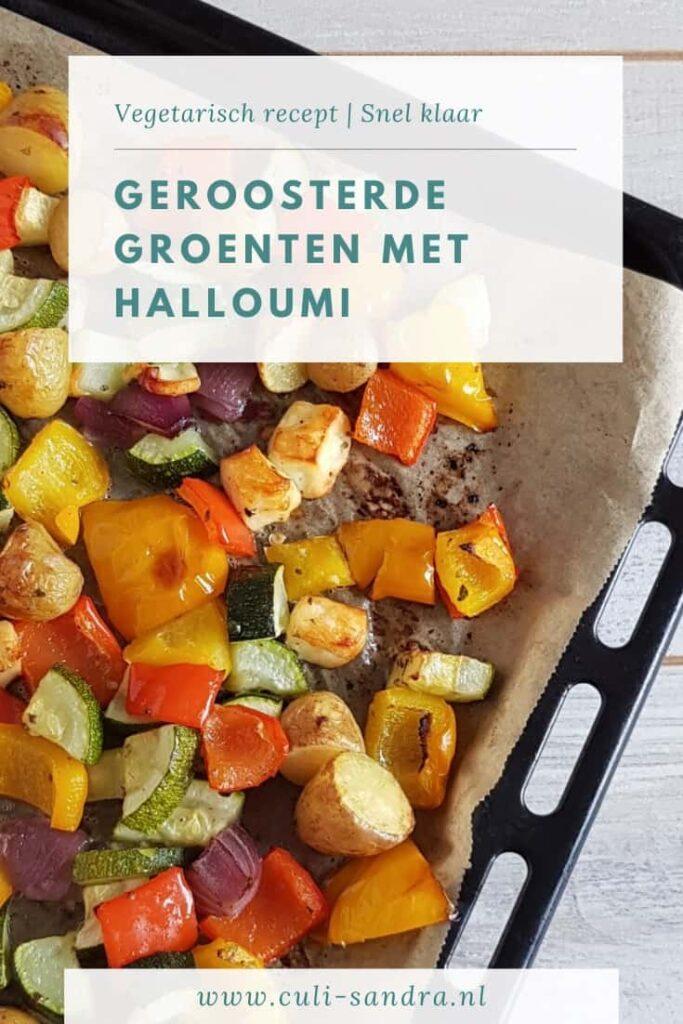 Recept geroosterde groenten met halloumi