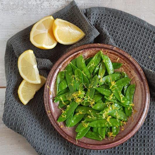Gewokte peultjes met citroen