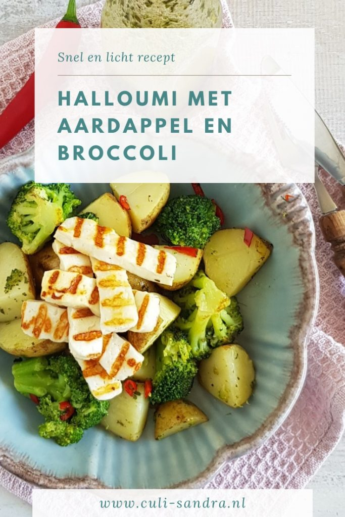 Recept halloumi met broccoli