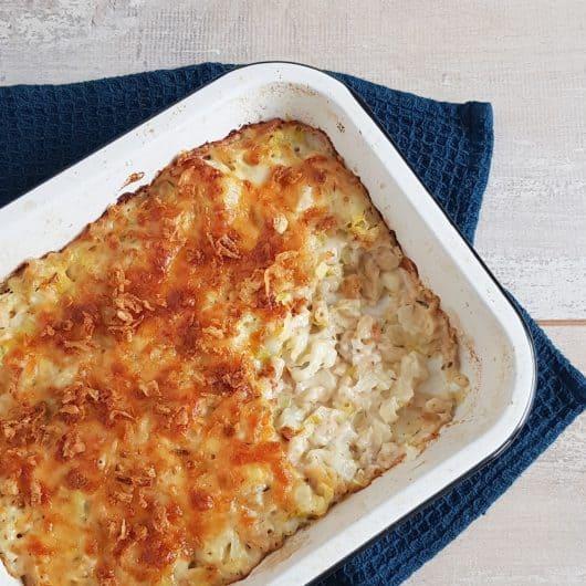 Mac&Cheese met bloemkool en prei