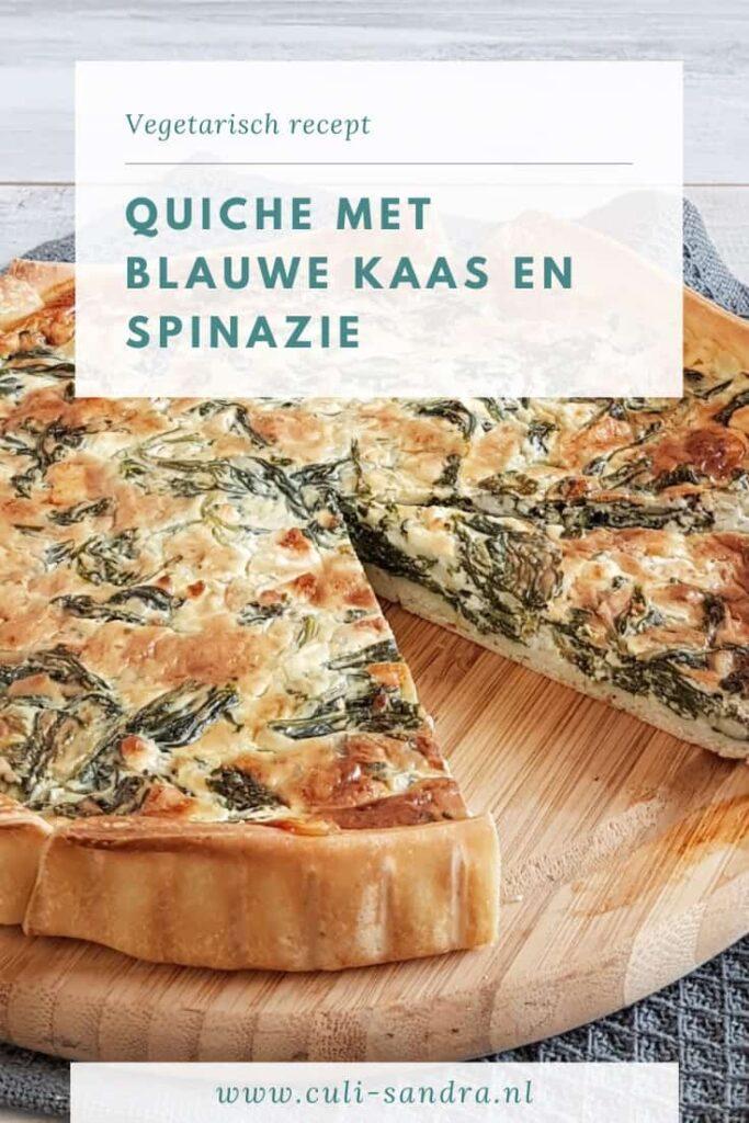 Recept quiche met blauwe kaas