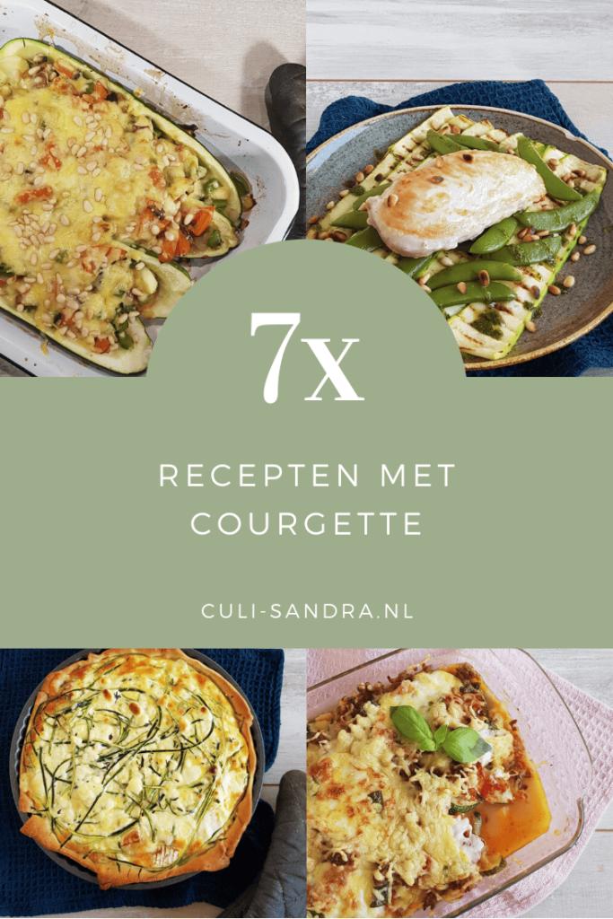 Recepten met courgette