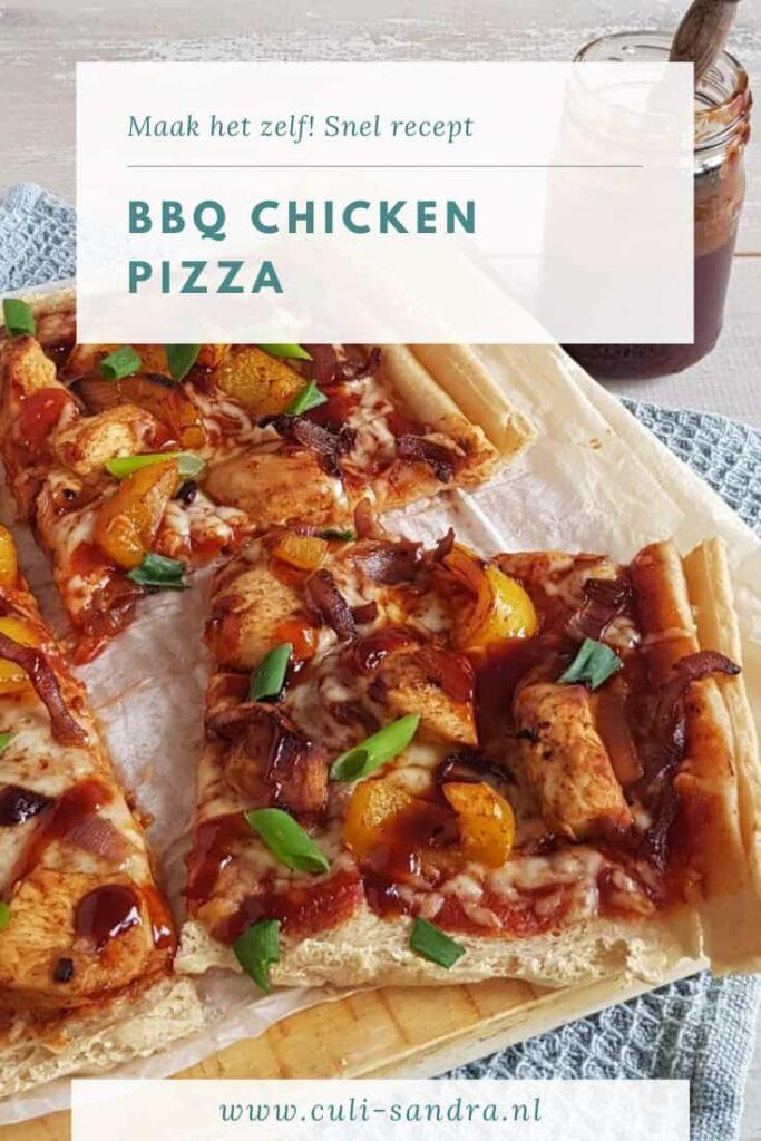 Recept BBQ Chicken pizza