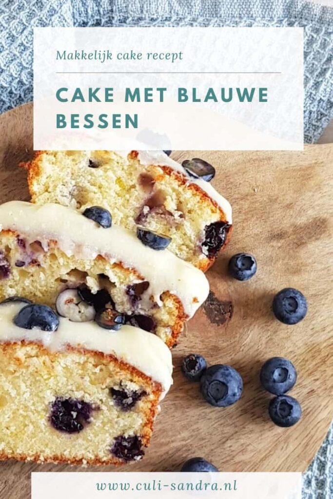 Recept cake met blauwe bessen