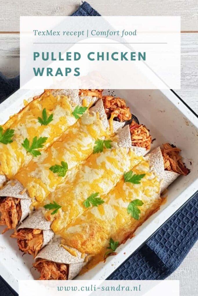 Recept pulled chicken wraps