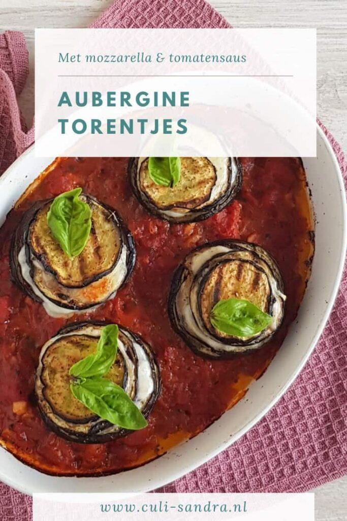 Recept aubergine torentjes