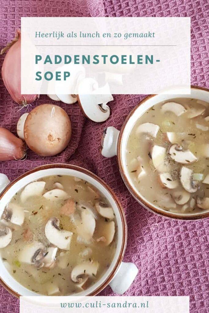 Recept paddenstoelensoep