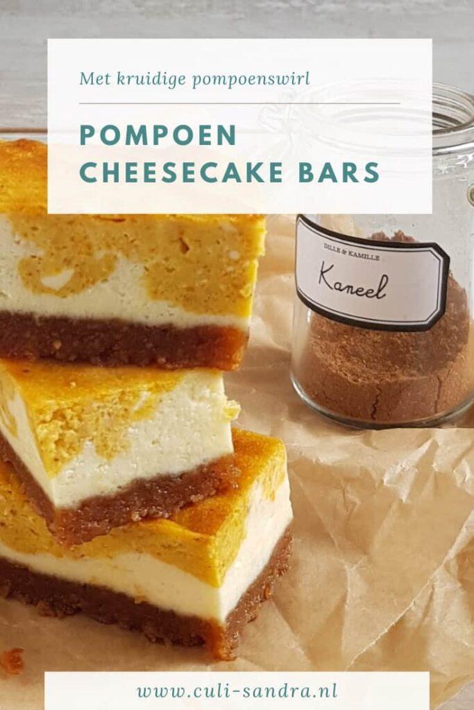Recept pompoen cheesecake