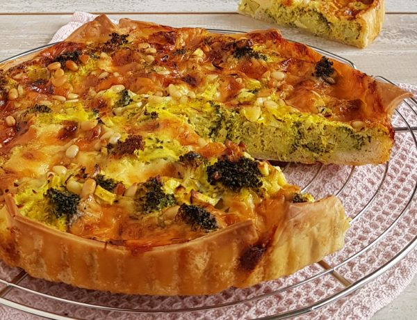 Quiche met broccoli en cheddar