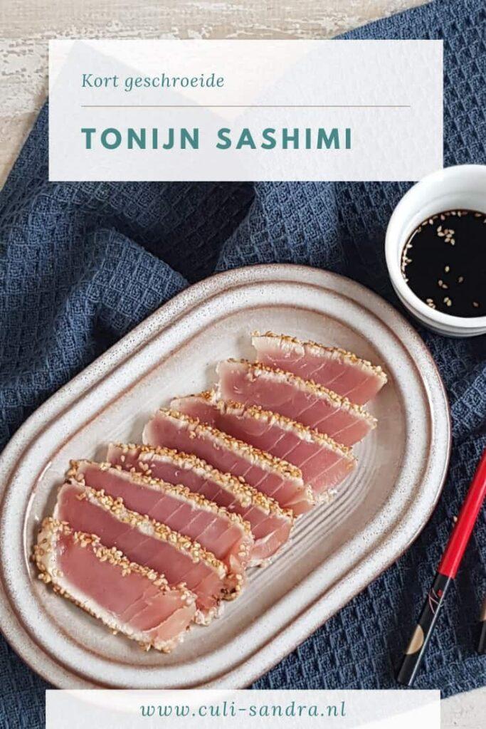 Recept tonijnsashimi