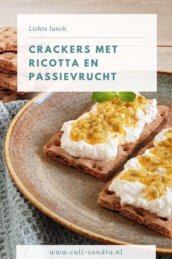 Recept crackers met ricotta