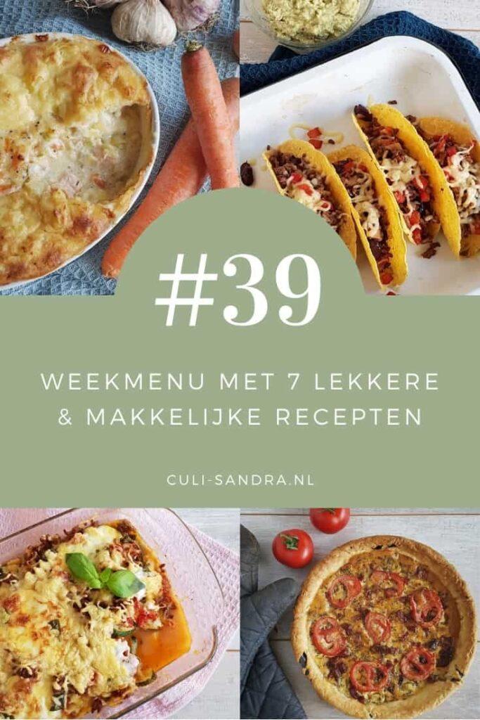 Weekmenu 39