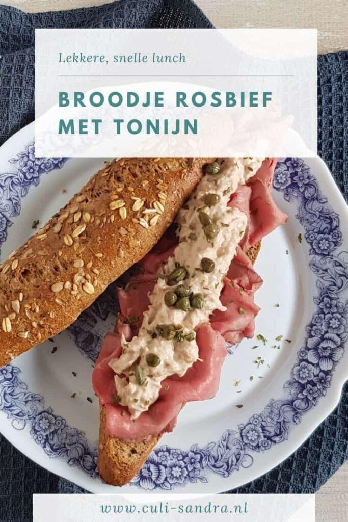 Recept broodje rosbief