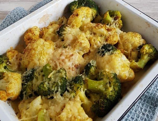 Ovenschotel met broccoli en bloemkool