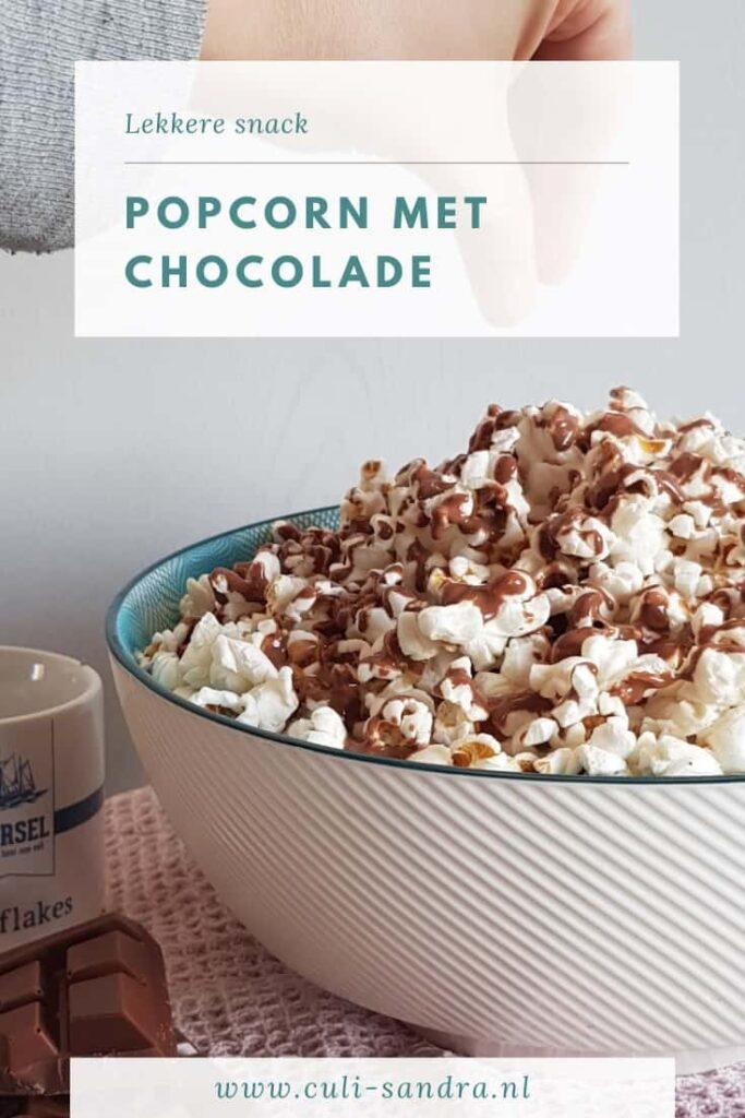 Recept popcorn met chocolade