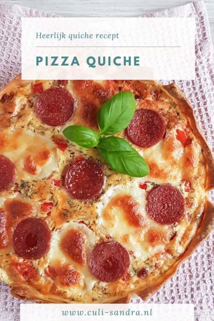 Recept pizza quiche
