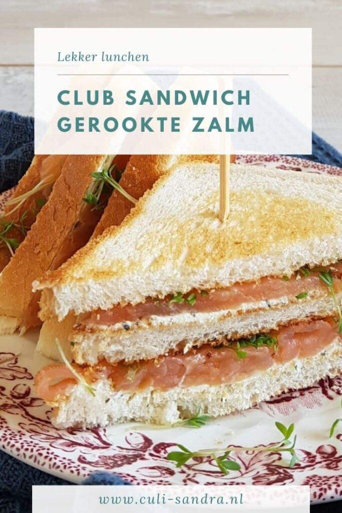 Recept Club Sandwich gerookte zalm