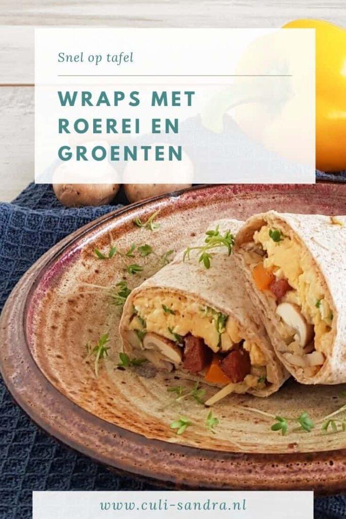 Recept wraps met roerei