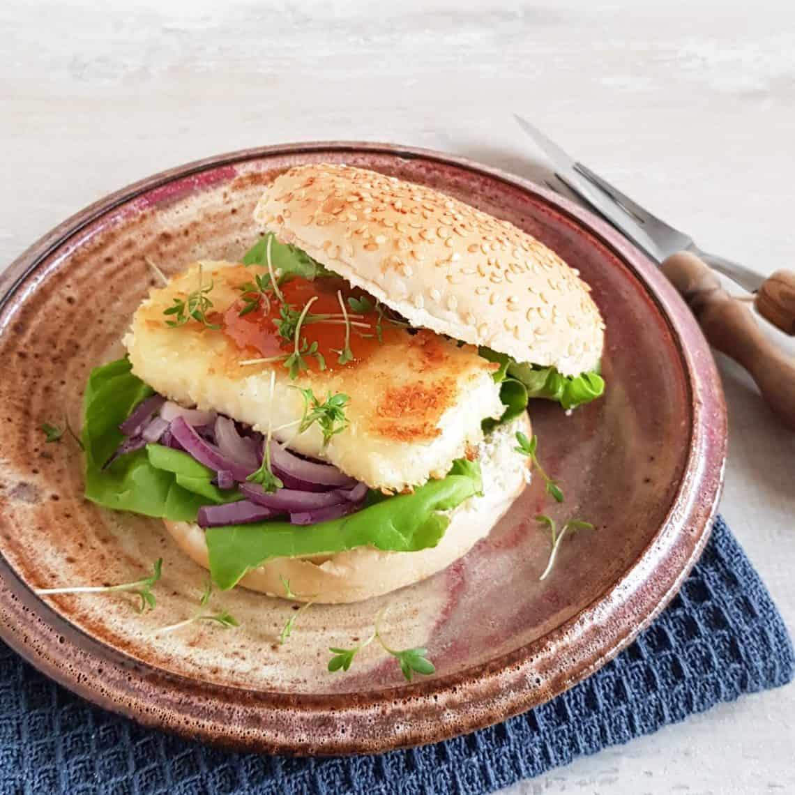 Halloumi burger - vegetarische burger