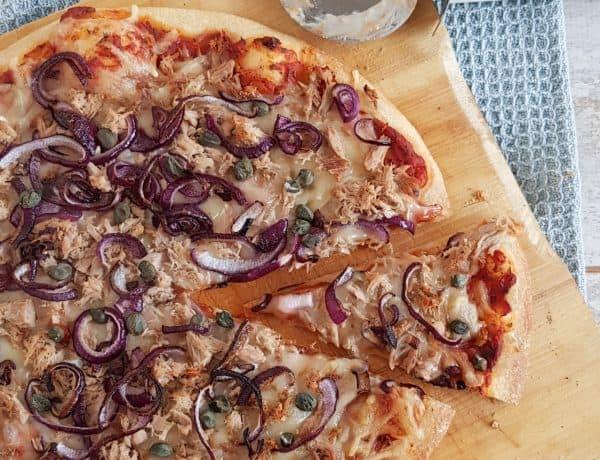 Pizza tonijn - pizza tonno