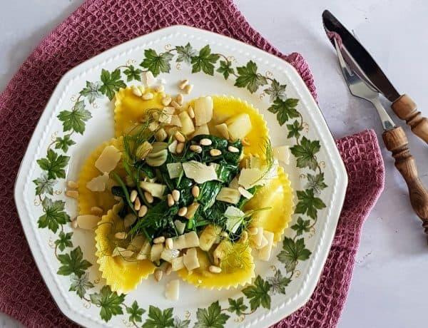 Ravioli met venkel en spinazie