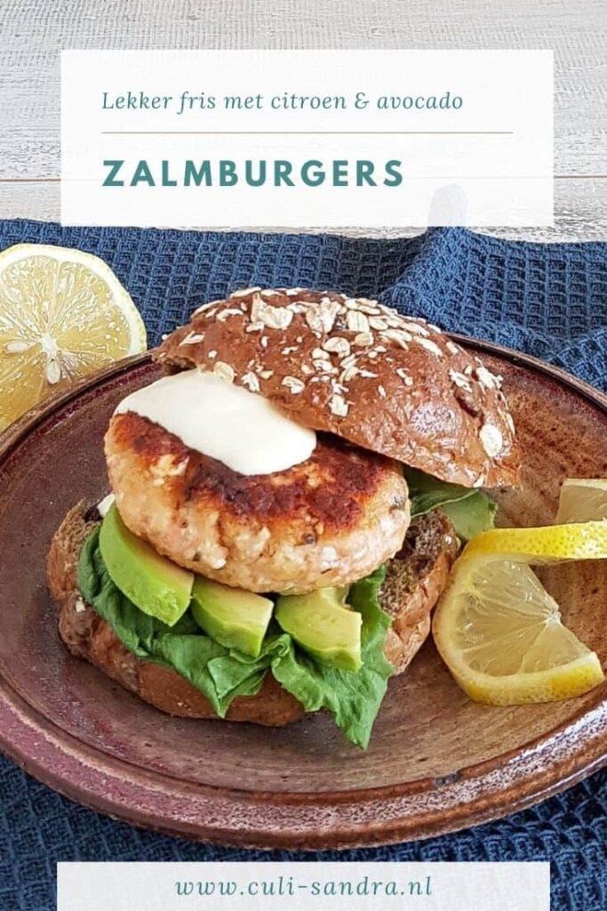 Recept zalmburgers met avocado