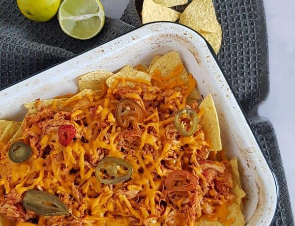 Pulled chicken nachos